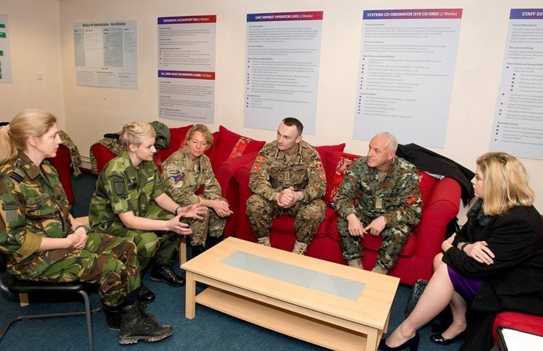 Instructors during a visit of Minister of State for the Armed Forces Penny Mordaunt