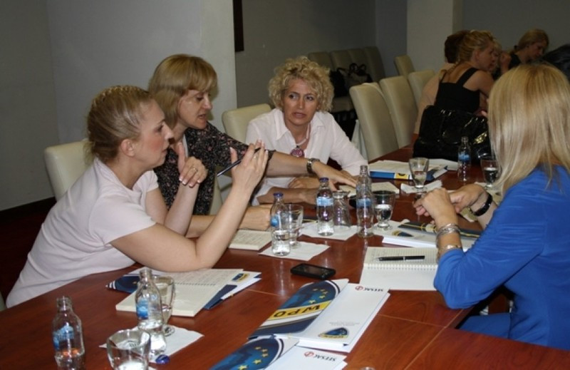 Participants during discussions in working groups