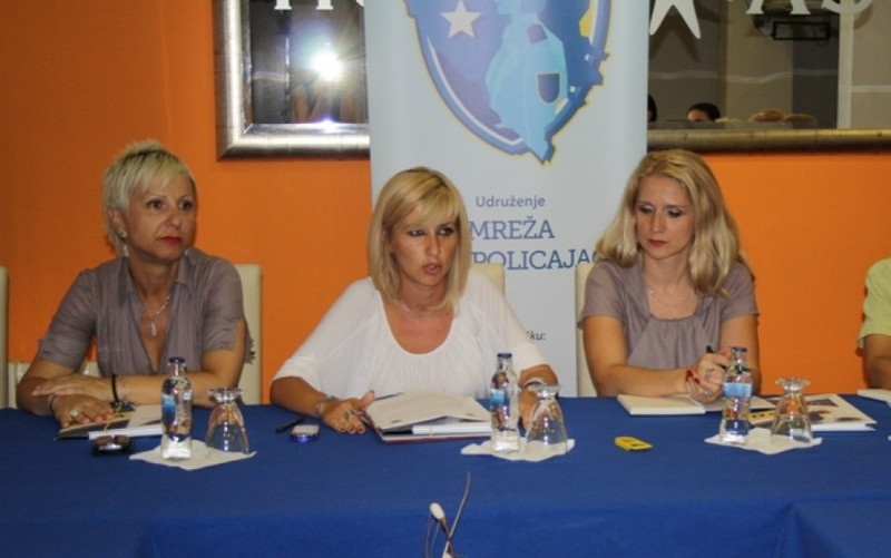 (from left to right) Ms.Verica Golijanin, Inspector of the Administration of the Federal Police, BiH; Ms. Marina Zovic, Chair of the Network of Women Police Officers and Ms. Aldina Ahmic, Chair of the Assembly of the Network of Women Police Officers.