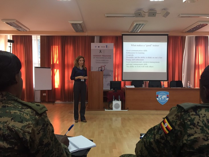 Gender Trainers from the Western Balkans delivering GToT for African militaries