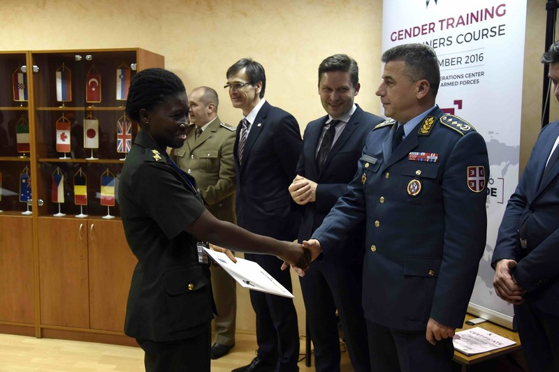 Closing Ceremony for Gender Training of Trainers – certificates awarded to participants