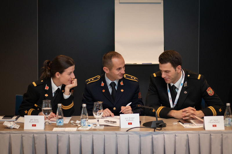 Experts on gender in the military from the Western Balkans - Military officers from the Armed Forces of Montenegro